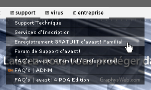 Enregistrement Avast