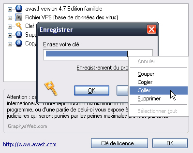 Cl� Licence Avast