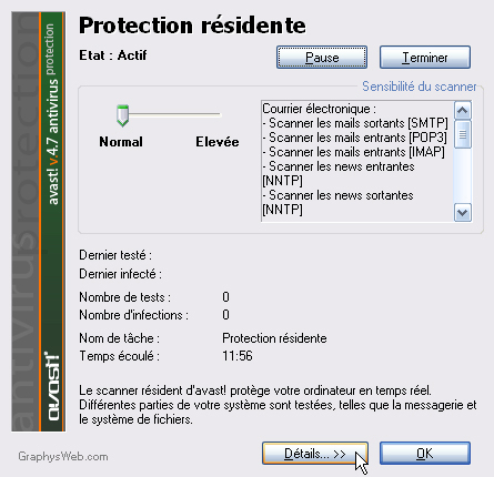 Protection résidente Avast